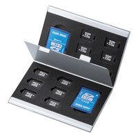 サンワサプライ アルミメモリーカードケース(microSDカード用・両面収納タイプ) FC-MMC5MICN 1個 (直送品)