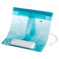 サンワサプライ 防水ケース付きスピーカー(7インチ用)ブルー MM-SPWP2BL 1個 (直送品)