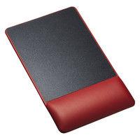 サンワサプライ リストレスト付きマウスパッド(レザー調素材、高さ標準、レッド) MPD-GELPNR 1個 (直送品)
