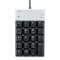 サンワサプライ USB2.0ハブ付テンキー NT-17UH2SVN 1個 (直送品)