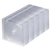 サンワサプライ DVD・CDケース(クリア) FCD-PU50C 1セット(50枚入り) (直送品)