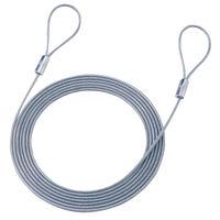 サンワサプライ eセキュリティ用ワイヤー(3.0M3.5mm) SLE-1W-3 1個(直送品)