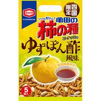亀田の柿の種 ゆずぽん酢風味 5袋入 110g