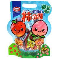 東北限定 亀田の柿の種 りんご&もも風味