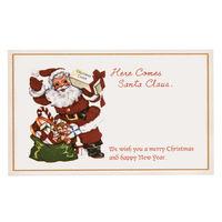 ヘッズ クリスマスアンティークサンタカード-1 XAQ-C1 1セット(30枚×25パック:750枚) (直送品)