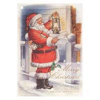ヘッズ クリスマスアンティークサンタカード-4 XAQ-C4 1セット(150枚:30枚×5パック)(直送品)