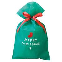 ヘッズ シンプルクリスマスグリーン不織布バッグ-L XG-L 1セット(10枚×4パック:40枚) (直送品)