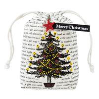 ヘッズ ホーリークリスマス巾着バッグ-M XHL-KBM 1セット(10枚×4パック:40枚) (直送品)