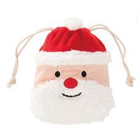 ヘッズ クリスマスサンタ巾着バッグ-S XMS-KBS 1セット(10枚×4パック:40枚) (直送品)