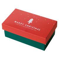 ヘッズ シンプルクリスマスギフトBOXワイド型-S XR-GSW 1ケース(10枚×10パック:100枚)(直送品)