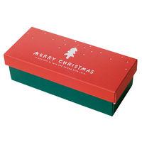 ヘッズ シンプルクリスマスギフトBOXワイド型 XR-GW 1ケース(10枚×10パック:100枚)(直送品)
