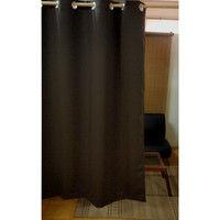 フォレストリンク 防炎遮光ハトメカーテン ダークブラウン 144×178cm 1枚 (直送品)