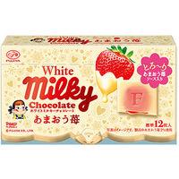 不二家 ホワイトミルキーチョコレート (あまおう苺) 1箱