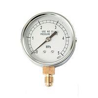 文化貿易工業 BBK 1/4フレアタイプ圧力計 AF-1650 1セット(2個) (直送品)
