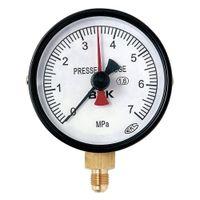 文化貿易工業 BBK 1/4フレアタイプ圧力計 AF7570 1セット(2個) (直送品)