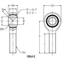 ミネベアミツミ(MinebeaMitsumi) RBM-E ロッドエンド(モールド型) おねじ RBML14E 1セット(2個)(直送品)