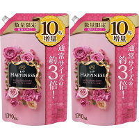 【数量限定増量品】レノアハピネス アンティークローズ&フローラルの香り 詰め替え 超特大 1390ml 1セット(2個入) 柔軟剤 P&G