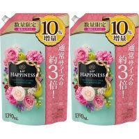 【数量限定増量品】レノアハピネス フルーティカクテルフラワーの香り 詰め替え 超特大 1390ml 1セット(2個入) 柔軟剤 P&G
