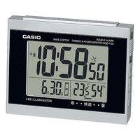 カシオ計算機 wave ceptor 温度・湿度計測/2つのアラームがセット可能 [電波 置き 時計] DQD-710J-8JF シルバー 1個 (取寄品)
