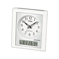 カシオ計算機 wave ceptor 温度・湿度計測機能/夜見えライト付き時計 [電波 置き 時計] TQT-351NJ-7BJF ホワイト 1個 (取寄品)