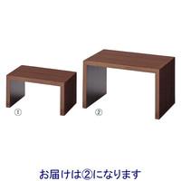 店研創意 木製コの字ディスプレイ ブラウン 中 12611-53 (直送品)