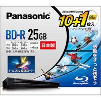 パナソニック 録画用4倍速ブルーレイディスク片面1層25GB(追記型) 10枚+50GB1枚パック LM-BR25LW11S 1個  (直送品)