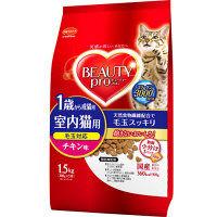 ケース販売 BEAUTY PRO(ビューティープロ) キャットフード 1歳からの成猫用 チキン味 1.5kg 1ケース(6個) 日本ペットフード