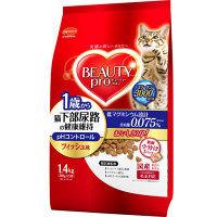 ケース販売 BEAUTY PRO(ビューティープロ) キャットフード 猫下部尿路の健康維持 1歳から 1.4kg 1ケース(6個) 日本ペットフード