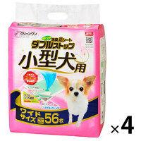 ケース販売 クリーンワン 消臭炭シート ダブルストップ 小型犬用 ワイド 1ケース(224枚:56枚×4袋) シーズイシハラ