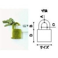 アルファ 南京錠標準タイプ 幅25mm 鍵式 真鍮 1000-25 8個 (わけあり品)