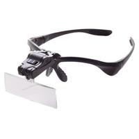 メガネ型ルーペ レンズ倍率約1.0倍/約1.5倍/約2.0倍/約2.5倍/約3.5倍 LEDライト付 1個 HD-002 ティ・エス・ケイ(取寄品)