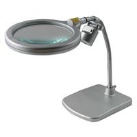 スタンド式レンズ(角スタンドタイプ) レンズ倍率約1.6倍 LEDライト付 1個 RX-1500K-LED ティ・エス・ケイ(取寄品)