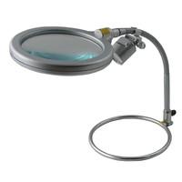 スタンド式レンズ(丸スタンドタイプ) レンズ倍率約1.6倍 LEDライト付 1個 RX-1500M-LED ティ・エス・ケイ(取寄品)