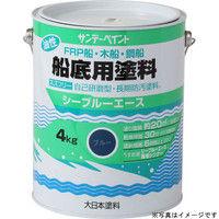 サンデーペイント シーブルーエース 油性船底用塗料 白 4kg #1A0N4 (直送品)