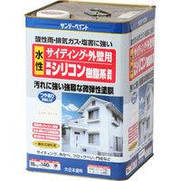 サンデーペイント サイディング・外壁用水性シリコン樹脂系塗料ミルキーホワイト 16K #255337(直送品)