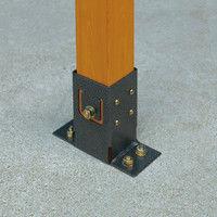 タカショー ラティス柱用金具 ベースプレート TKP-02/2S 1セット(2個入)(直送品)