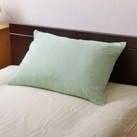 イケヒコ まくらカバー 洗える 『リバ枕カバー63』 グリーン/ライトグリーン 約43×63cm 1個 (直送品)
