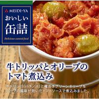 【アウトレット】明治屋 おいしい缶詰 牛トリッパとオリーブのトマト煮込み 1缶(90g)