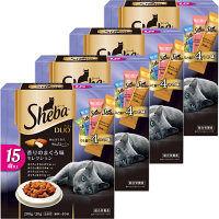 Sheba Duo(シーバ デュオ) 香りのまぐろ味セレクション 15歳以上 200g(20g×小分け10袋) 1セット(4箱) マースジャパン