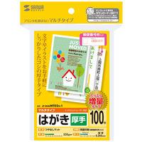 サンワサプライ マルチはがき・厚手(増量) JP-DHKMT02N-1 1冊 (直送品)