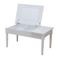 サン・ハーベスト コスメテーブル 幅800×奥行450×高さ400mm LT-900 WH 1台 (直送品)