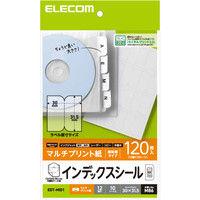 ELECOM 不織布ケース用インデックスシール/無地 EDT-MID1 1袋(10シート入り) (直送品)