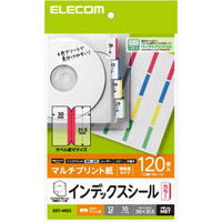 ELECOM 不織布ケース用インデックスシール/カラー EDT-MID2 1袋(10シート入り) (直送品)