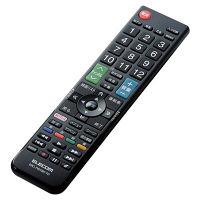 ELECOM かんたんTVリモコン/東芝・レグザ用/ブラック ERC-TV01BK-TO 1個 (直送品)