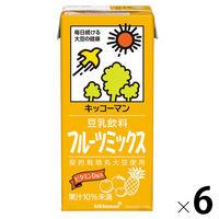 キッコーマン 飲料(豆乳) キッコーマン キッコーマン 飲料 豆乳飲料 フルーツミックス 1L×6本