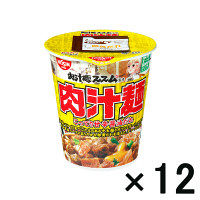 【アウトレット】日清食品 AKIBAヌードル 肉汁麺ススム監修 肉汁麺 こってり甘辛醤油だれ 1箱(12食入)