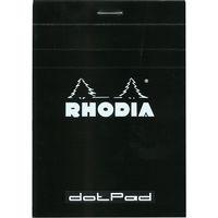 RHODIA(ロディア) dotPad(ドットパッド) No.12 ドット方眼 ブラック cf12559 1セット(10冊入) (直送品)