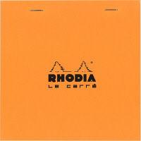 BLOC RHODIA(ブロックロディア) No.148 ル・キャレ 方眼 オレンジ cf148200 1セット(5冊) (直送品)