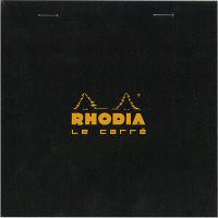 BLOC RHODIA(ブロックロディア) No.148 ル・キャレ 方眼 ブラック cf148209 1セット(5冊) (直送品)