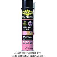 ABC 簡易型発泡ウレタンフォーム 1液ノズルタイプ インサルパック スプレーノズルフォーム 780ml フォーム色:ピンク 207-8972(直送品)